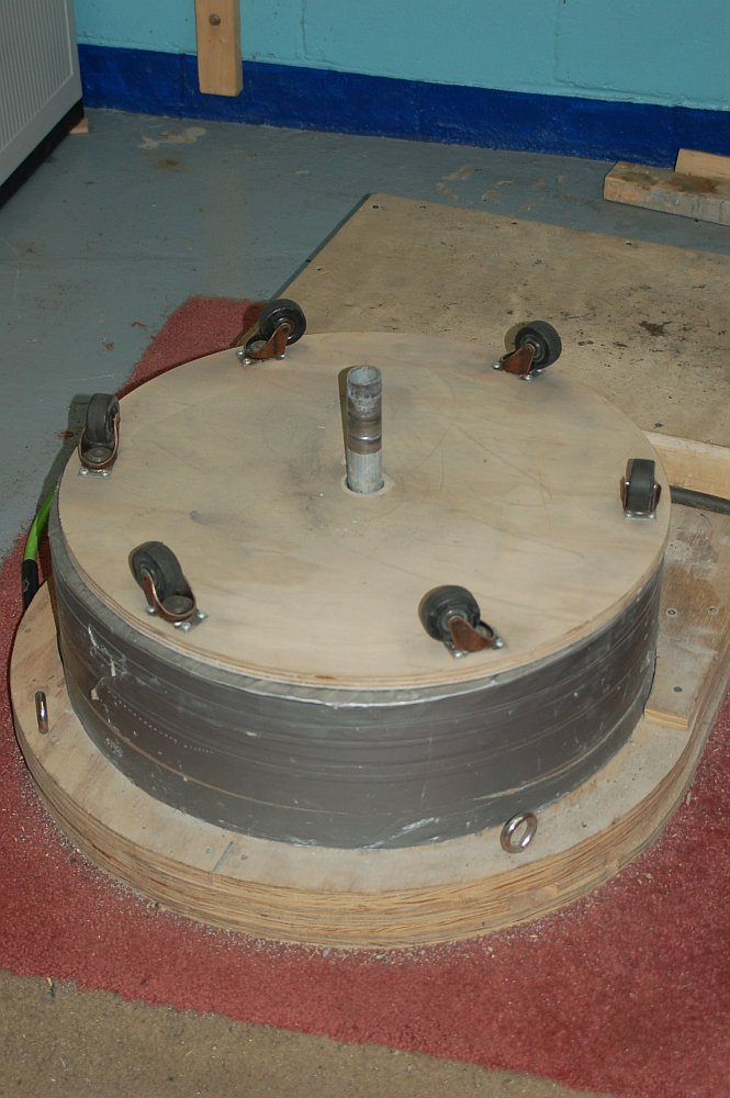Concrete Base with Casters